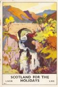 LNER vintage poster - Scotland for the holidays